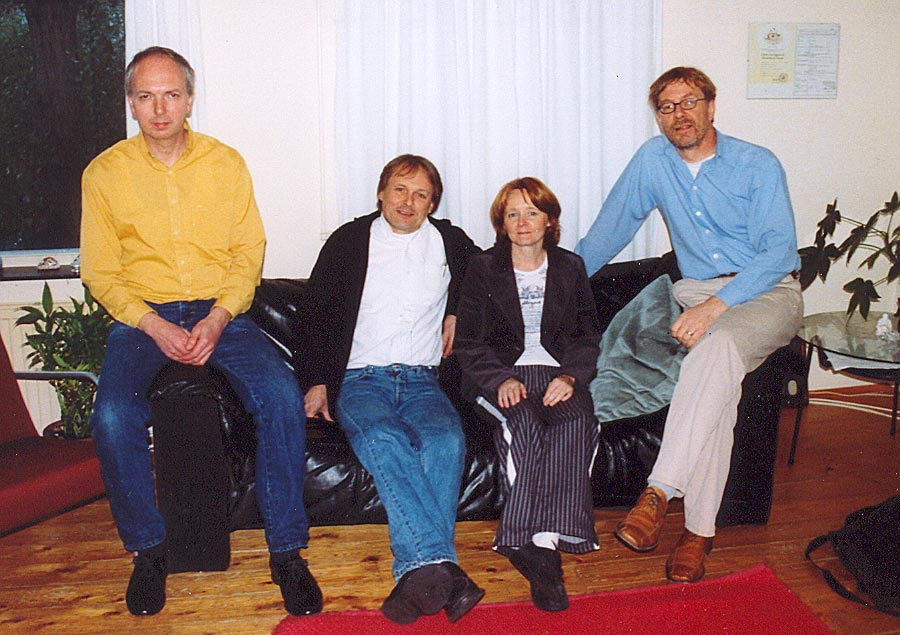 Four third cousins: John, Johan, Loes and Ruud